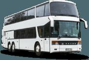 Setra S328 DT autobuso priekis ir šonas