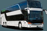 Setra S431 DT autobuso priekis ir šonas