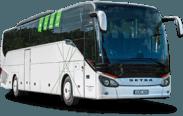 Setra S516 autobuso priekis ir šonas