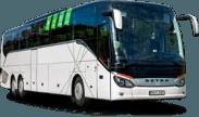 Setra S517 autobuso priekis ir šonas