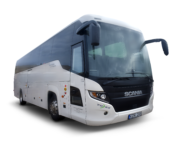 Scania Touring K410 autobuso priekis ir šonas
